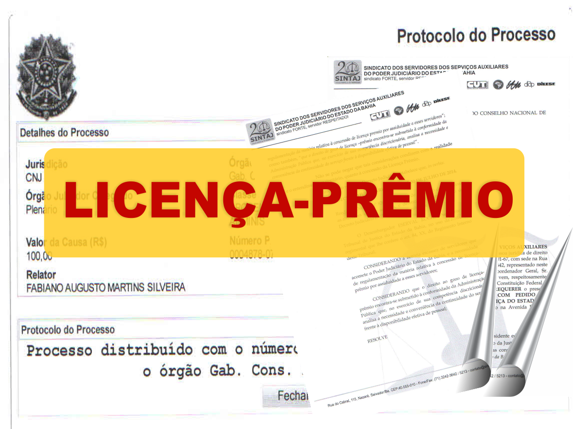 SINTAJ ingressa com PCA referente à Licença-Prêmio