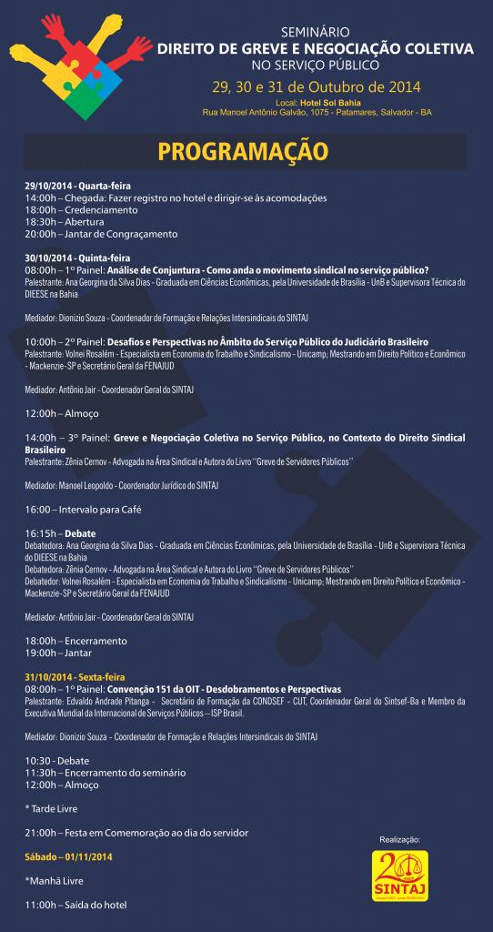 programação do seminário 2014