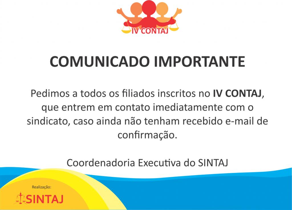 Comunicado CONTAJ