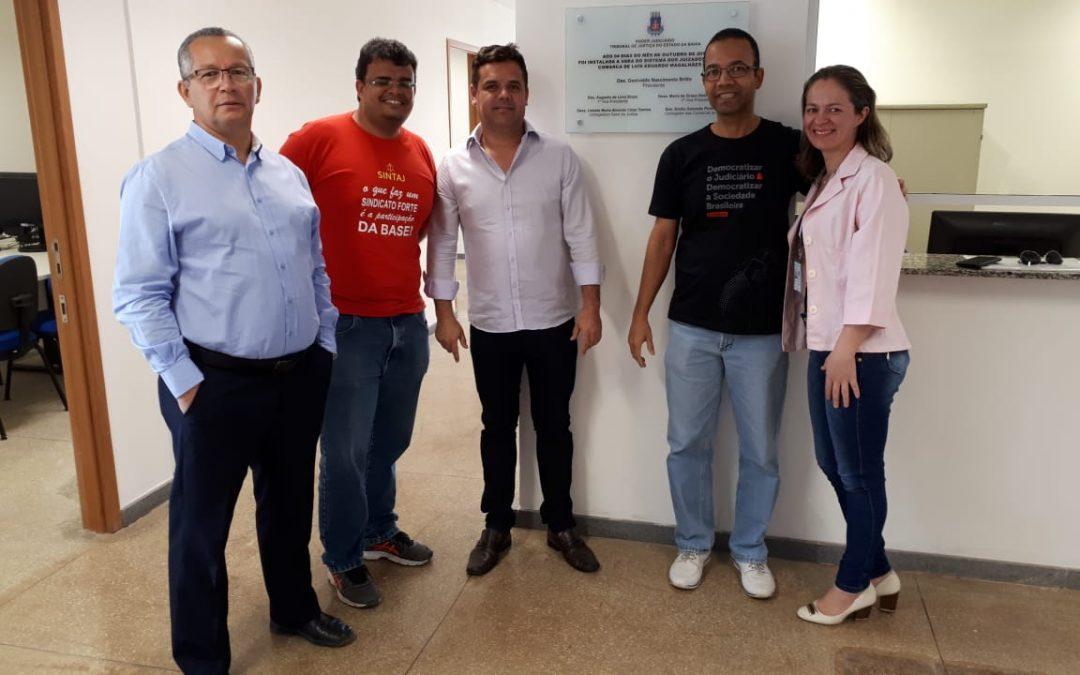 Representantes do SINTAJ participam de inauguração de Juizado de Luís Eduardo Magalhães