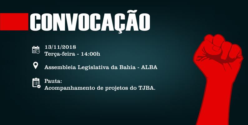 Sintaj convoca trabalhadores do Judiciário baiano para mobilização na Alba próxima terça (13)