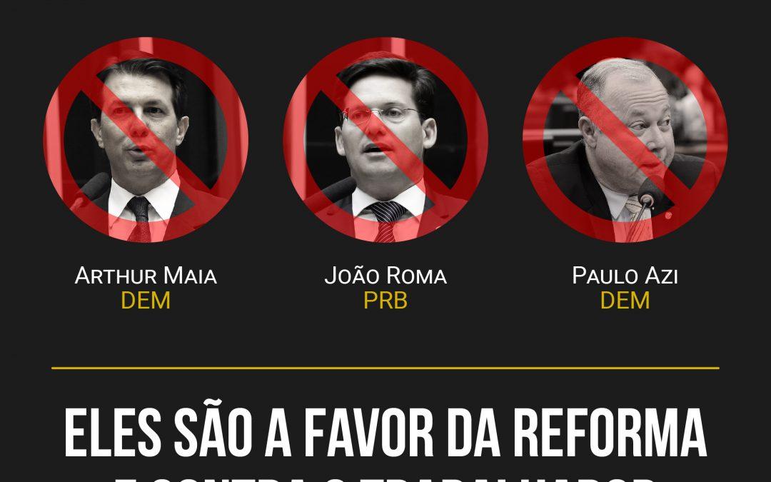 Deputados baianos que votaram a favor da reforma da previdência