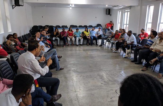 SINTAJ participa de reunião na APLB para discutir estratégias de combate a Reforma da Previdência do Governador Rui Costa