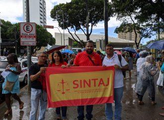 Confira a participação do SINTAJ em ato público realizado na última terça feira (04/02)