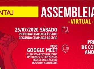 SINTAJ realiza assembleia virtual de prestação de contas neste sábado (25)