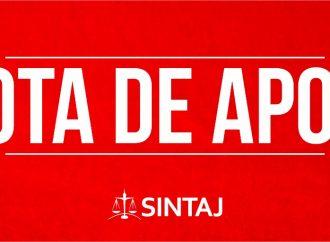 SINTAJ apoia greve sanitária dos trabalhadores do Judiciário de Sergipe