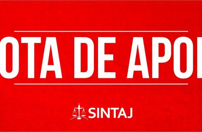 Nota de apoio à greve sanitária dos trabalhadores do TJ-SP