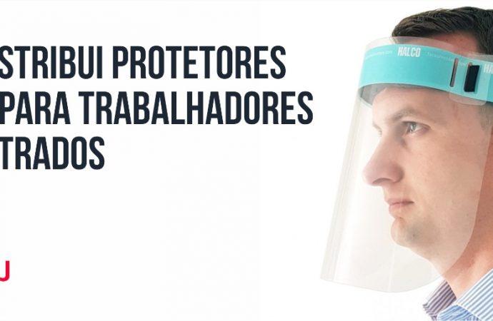 TJ-BA distribui protetores faciais para trabalhadores e magistrados