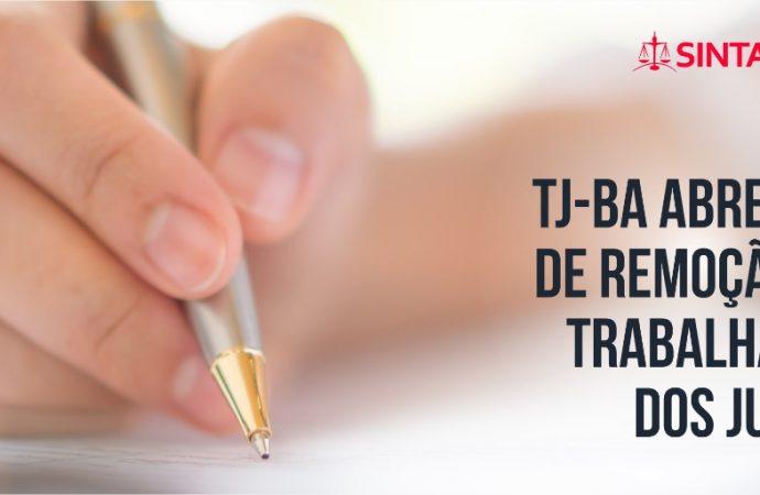 TJ-BA abre edital de remoção para trabalhadores dos Juizados