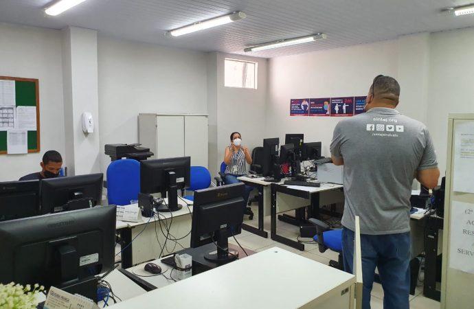 Coordenadores do SINTAJ visitam unidades para verificar se protocolos de segurança estão sendo cumpridos