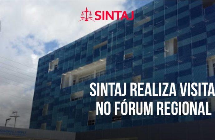 SINTAJ realiza visita virtual no Fórum Regional do Imbuí
