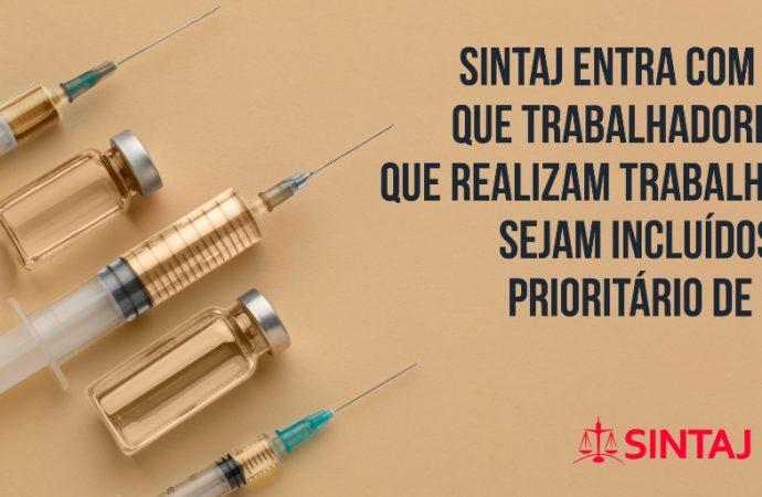 SINTAJ entra com ação para que trabalhadores do TJ-BA sejam incluídos no grupo prioritário de vacinação