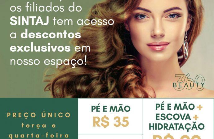 Novos convênios do SINTAJ: Espaço Beauty 360 e Deluxe Store 360