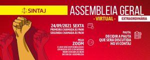 SINTAJ convoca filiados para assembleia nesta sexta (24)
