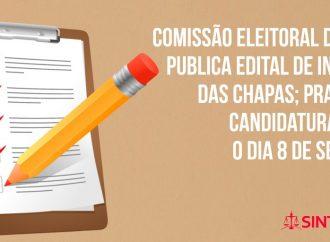Comissão Eleitoral do SINTAJ publica edital de inscrição das chapas; prazo para candidatura vai até o dia 8 de setembro