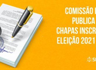 Comissão Eleitoral publica edital de chapas inscritas para eleição 2021 do SINTAJ