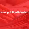 Comissão Eleitoral publica lista de votantes